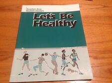 Abeka used book Let's Be Healthy Teacher Answer Key to Student Quizzes 33391018