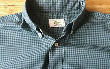 Smart 100% Genuine Mens Lacoste Devanlay Green Check Shirt In Size 39 M VGC