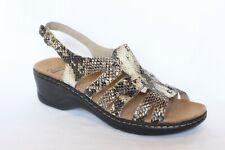 New Clarks Lexi Marigold Snakeskin Leather Slingback Sandal Women 10 Wide