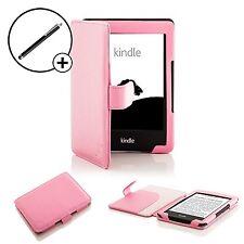 De Cuero Rosa Smart Funda Protectora Para Amazon Kindle (7th Gen 2014) + Stylus