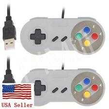 2pcs SNES USB Game Controller Gamepad for PC Raspberry Pi US Stock