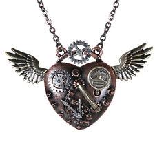 Steampunk Gearwing Clock Pressure Wings Necklace