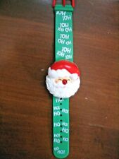 Vintage 1991 Avon Santa Claus Kris Kringle Light Up Musical Bracelet