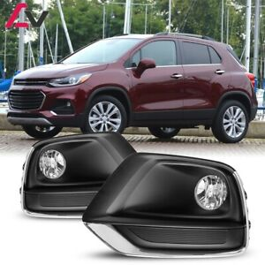 17-20 For Chevy Trax Clear Lens Pair OE Fog Light Lamp+Wiring+Switch Kit DOT