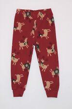 """Gymboree """"Santa Rocks!"""" Hat Scarf Sweater Reindeer Red Gymmie Pajama Pants, 2T"""