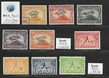 WC1_9015. NICARAGUA. 1937 air post official & postal tax sets.  Used/MH