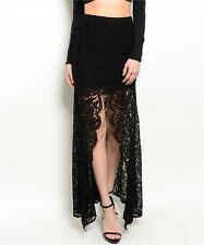 S Lolita Gypsy Steam Punk Boho Belly Dance Lace Gothic Salsa Tango Mermaid Skirt