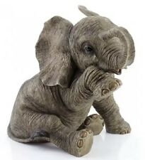 Elephant Figure - Tear Drop Sitting Elephant Ornament Decoration Figurine
