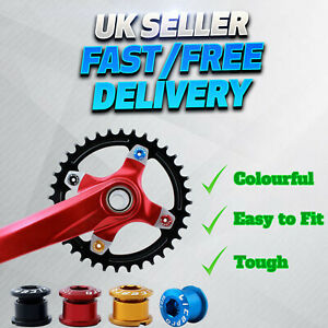 Best Aluminum MTB Road Trail BMX Bike Chainring Chainset Crank Nuts Bolts Screws