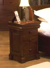 La Roque Solid Mahogany Furniture 4 Drawer Lit Bateau Lamp Bedside Table IMR10A