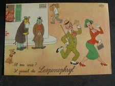 Beau dessin de Dubout (pub pharmaceutique) Laboratoire Fraysse  le dandy TBE