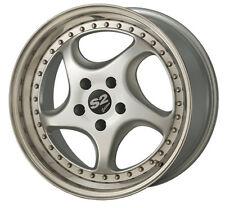 S2 Edition 8.5X17 LK 5/112  zweiteilig Silber/Hornpoliert