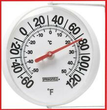 Springfield 90100 5.25 inch Big and Bold Thermometer with Mounting Bracket , New