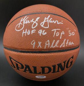 George Gervin SIGNED I/O Basketball HOF 96 Top 50 INSC Spurs PSA/DNA AUTOGRAPHED