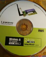 Linksys Cisco System WMP11 Setup Wizard Disk 2.0  Installation Software 2.4GHz