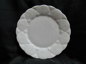 """Coalport Oceanside, All White, Embossed Seashells: Dinner Plate (s), 10 7/8"""""""