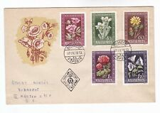 hungary 1950 Sc 906/10 flower,set on FDC      p226