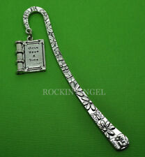 Antique Silver Plt 'Once Upon A Time' Book Bookmark,  Ladies Girls Mens Gift