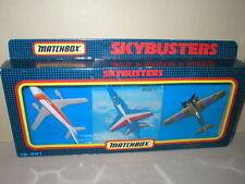MATCHBOX Skybusters 3 PLANES Set, MINT AIRBUS,MIRAGE & HURRICANE Mint & RARE!