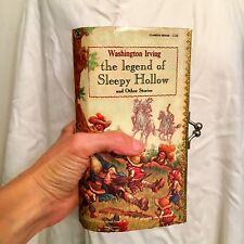Vtg Legend Of Sleepy Hollow By Washington Irving Book Purse Clutch