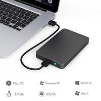 "USB 3.0 External Hard Drives Enclosure Case for 9.5mm 7mm 2.5"" SATA HDD SSD"
