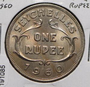 Seychelles 1960 Rupee 191085 combine