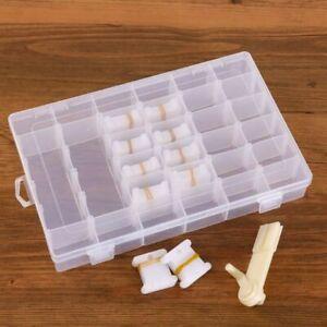 Embroidery Floss Cross Stitch Organizer Storage Plastic Box Set Thread Bobbins