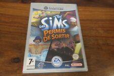 LES SIMS  PERMIS DE SORTIR        ---- pour GAME CUBE
