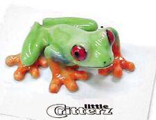 ➸ Little Critterz Amphibian Frog Miniature Figurine Red Eyed Frog Clinger