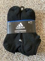 Mens Adidas Cushioned 6 Pairs No Show Socks Size 6-12 $20
