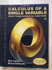 Calculus of a Single Variable : Early Transcendental Functions by Bruce H....