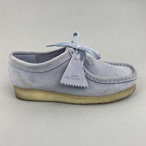 Clarks Originals Wallabee Lace Up Suede Boho Hippie Wedge Flat Shoes Size UK6 D