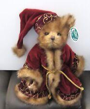 Bearington Bear Sir Nicholas- Style 1749- Christmas Coatand Hat- 2006- Tags