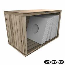 Zomo VS-Box 7/100 Vinyl Record Storage 7 inch in Zebrano flat pack