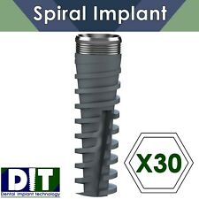 30 X SPI ® Dental Implant Spiral Titanium Internal Hex 2.42 - sterile Sterilize