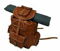 """UNISEX 22"""" Backpack Large Rucksack Travel Laptop Genuine Leather Gym Sport Bag"""