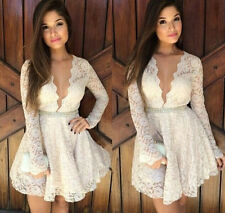 Lace Ball Gown Above Knee, Mini Casual Dresses