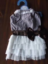 DOG PET FANCY BOUTIQUE DRESS WITH BOW & LACE SIZE SMALL NEW WITH TAG