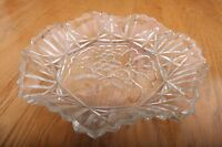 Vintage Cut Glass Tray With Fruit Pattern