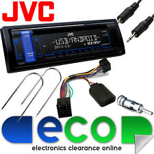 Vauxhall Corsa B JVC BLUE Display Car Stereo CD MP3 USB AUX Steering Wheel Kit