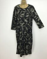 NEW Italian Balloon Dress Midi Lagenlook Loose Black  Plus Size UK 16 18