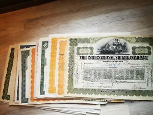 Old share certificates