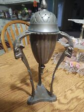 Unique Vintage Solid Brass Incense Burner Tripod Ram Heads San Pacific 10.5�