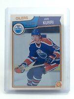 1983-1984 Jari Kurri #34 Edmonton Oilers OPC O-Pee-Chee Ice Hockey Card H673