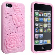 IPhone 4 / G / S Rose 3D Sculpture Design Rose Fleur cas-Protecteur D'écran & Cloth