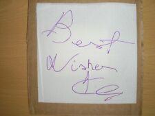 JOE CALZAGHE -  HAND-SIGNED PAPER NAPKIN  WORLD UNBEATEN BOXING CHAMPION  2013