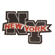 NEW YORK NY Navy Blue Iron On Patch Sew On Transfer badge Brand New