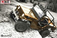 Gmade SPORT 10th Scaler GS01 Jeep Sawback 4WD Scale Crawler Leafs Metal Willys