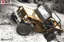 Gmade SPORT decimo Scaler GS01 JEEP SAWBACK 4WD scala Crawler Leafs metallo WILLYS