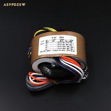115V / 230V 30VA Dual 18V+12V R type transformer With shielded wire output 30W